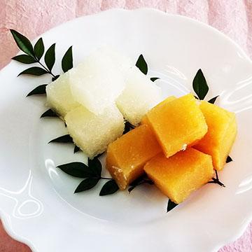 梨・柿の葛餅